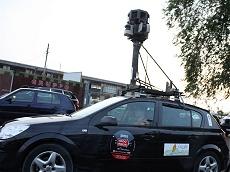 Auto di Google Streetview attrezzata per fotografare il percorso della 1000 Miglia 2009